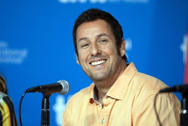 "FILE - In this Sept. 6, 2014 file photo, actor Adam Sandler smiles during a news conference for ""Men, Women, and Children"" at the 2014 Toronto International Film Festival in Toronto. Sandler"