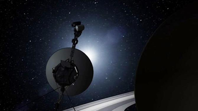 This artists rendering provided by NASA shows the Voyager spacecraft. Thirty-five years after leaving Earth, Voyager 1 is reaching for the stars. Sooner or later, the workhorse spacecraft will bid adieu to the solar system and enter a new realm of space _ the first time a man-made object will have escaped to the other side. (AP Photo/NASA)
