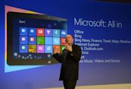 Microsoft CEO Steve Ballmer officially launches Windows 8 in New York. The new Windows 8 operating system and tablet mark a new offensive for the US tech giant seeking to keep pace with Apple and Google amid a dramatic shift away from PCs to mobile devices