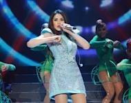 """Sarah Geronimo during her """"24/SG"""" concert at the Smart Araneta Coliseum on Saturday, July 21. (Photo courtesy of VIVA Concerts)"""
