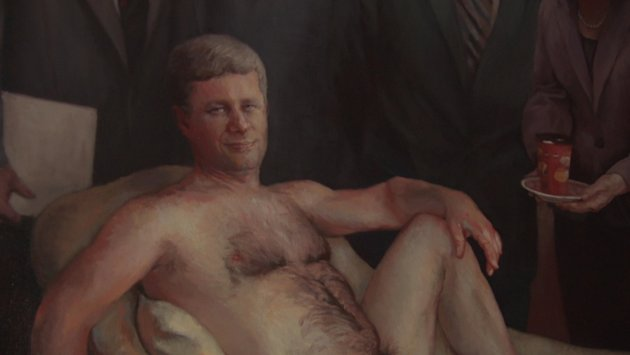 Nude painting of Stephen Harper for sale on Kijiji