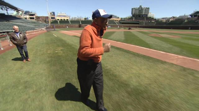 Legendary Chicago Cubs player Ernie Banks reflects at Wrigley Field