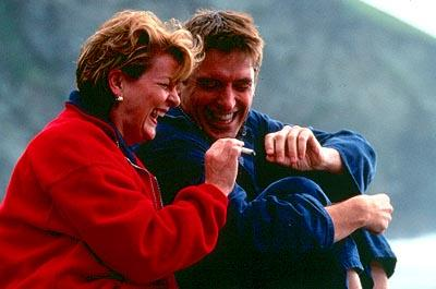 Brenda Blethyn as Grace and Craig Ferguson as Matthew in Fine Line's Saving Grace