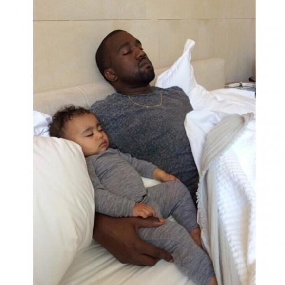 Kanye just wants to teach his baby to swim without electrocution. Copyright: [Twitter]