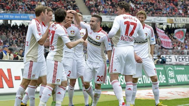 Bundesliga - Leverkusen clinch Champions League place, drama for Bremen