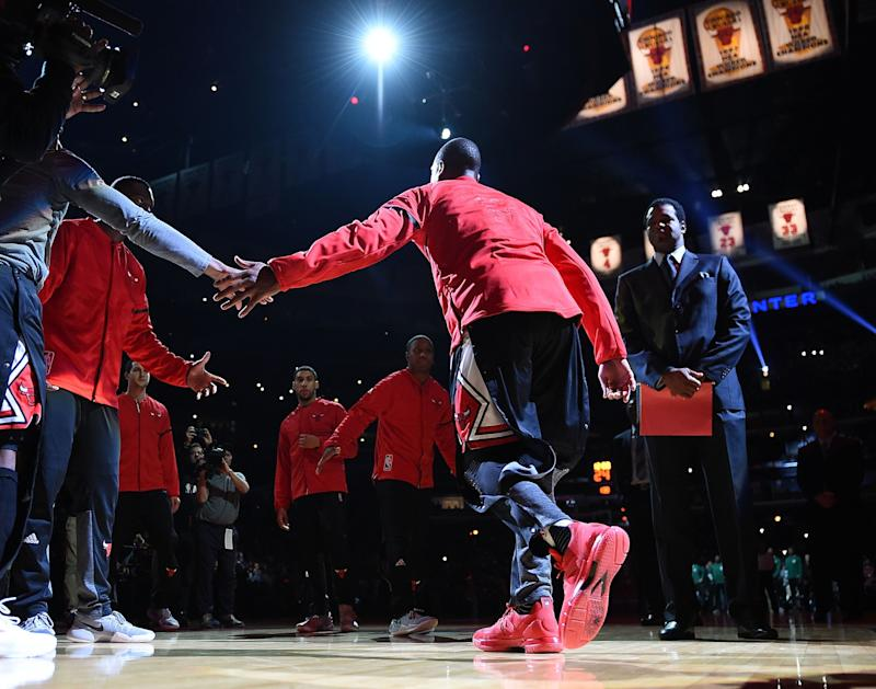 Dwyane Wade left the Heat after 13 seasons to join his hometown Bulls. (Getty)
