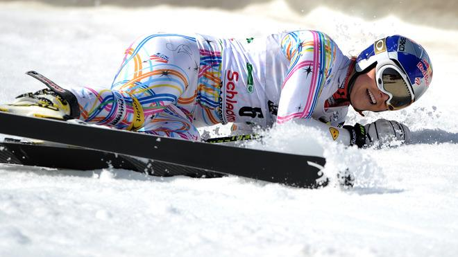 Lindsey Vonn Of US Reacts AFP/Getty Images
