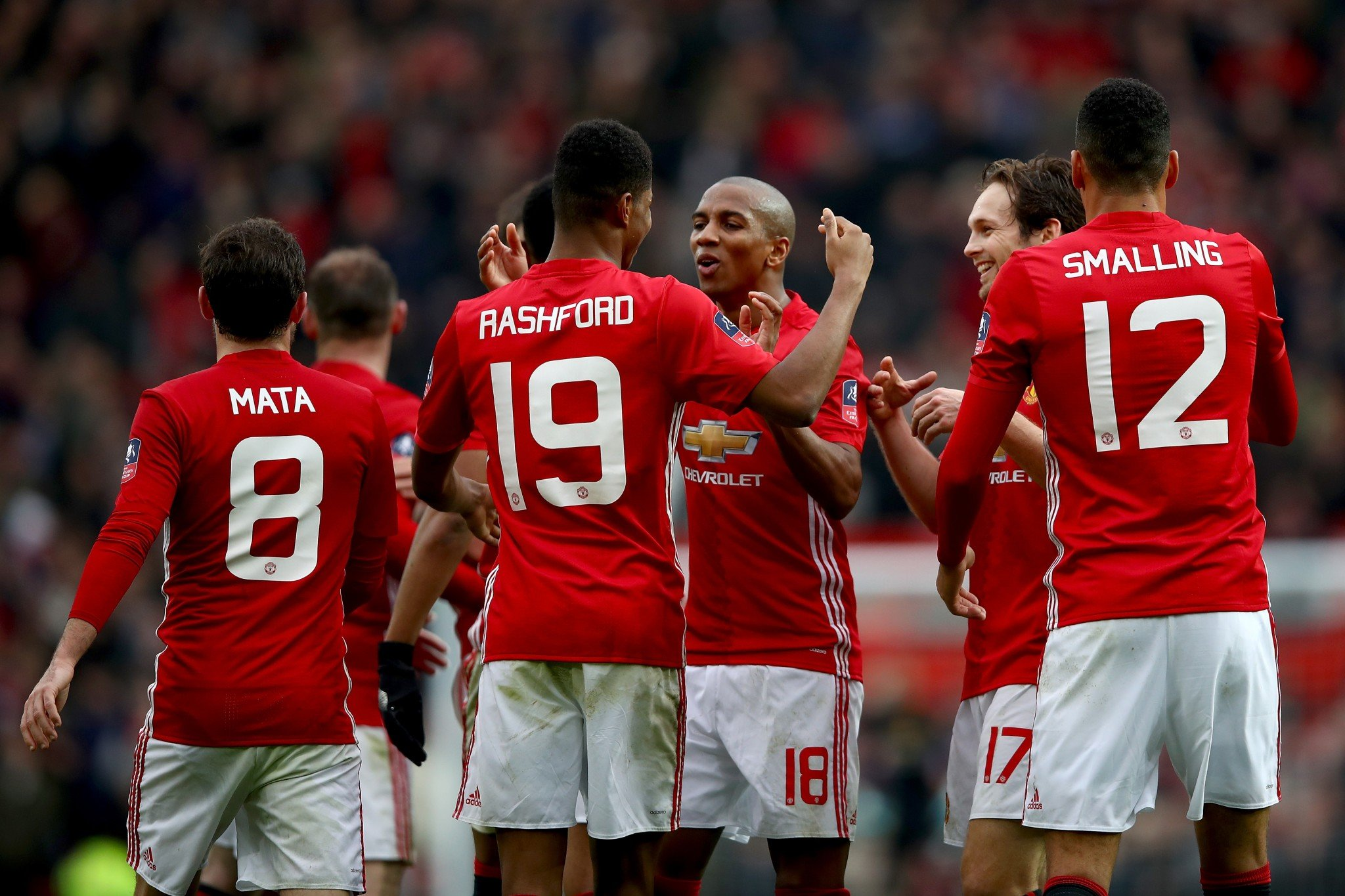Manchester United swept aside Reading 4-0 in the third round