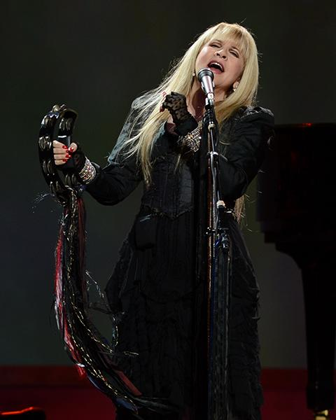 Singing her heart out during the Rod Stewart & Stevie Nicks' Heart and Soul Tour this August