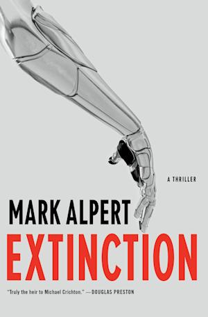 """This publicity photo provided by Thomas Dunne Books shows the cover of the book, """"Extinction,"""" by Mark Alpert from Thomas Dunne Books. (AP Photo/Thomas Dunne Books)"""