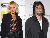 Kimberly Stewart and Benicio del Toro  -- Getty Premium