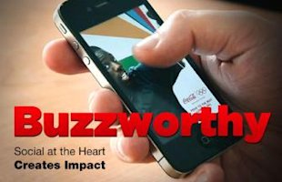 Content Marketing Is King image buzzworthy social at the heart creates impact