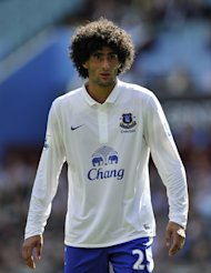 Marouane Fellaini only signed a new contract with Everton in November