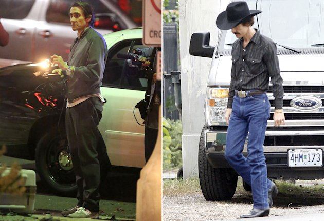 Jake Gyllenhaal, 'Nightcrawler'; Matthew McConaughey, 'Dallas Buyers Club'