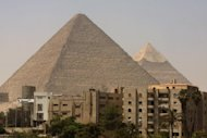 The pyramids in the Giza plateau in the outskirts of Cairo are pictured in 2009. Vicarious travellers and students of history can take a virtual stroll through the vast necropolis build by the ancient Egyptians in the Giza Plateau, thanks to a 3D Internet project launched this week