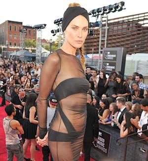 Erin Wasson Bares Almost All in See-Through Dress at 2013 MTV VMAs