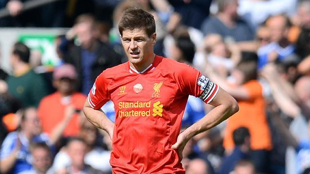Premier League - Rodgers backs Gerrard after horror gaffe