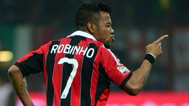 South American Football - Milan: Santos can talk to Robinho