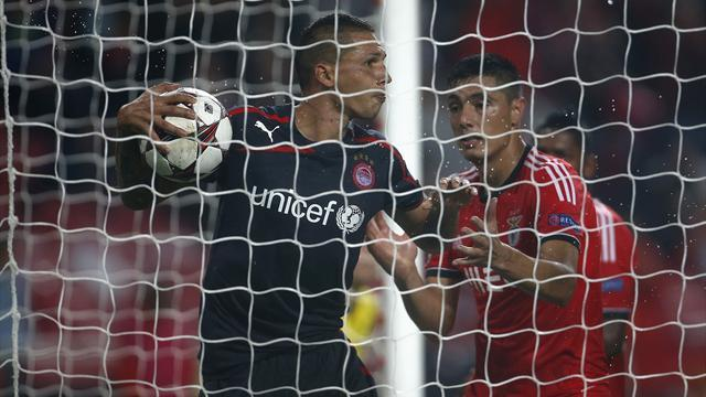 Champions League - Cardozo salvages late draw for Benfica against Olympiakos