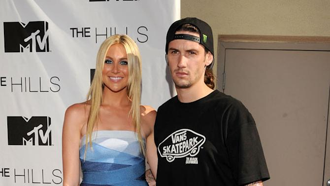"""Stephanie Pratt and guest arrive for MTV's """"The Hills Live: A Hollywood Ending"""" Finale at The Roosevelt Hotel on July 13, 2010 in Hollywood, California."""