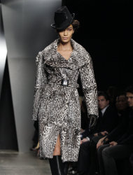 The Donna Karan Fall 2012 collection is modeled during Fashion Week in New York, Monday, Feb. 13, 2012. (AP Photo/Richard Drew)
