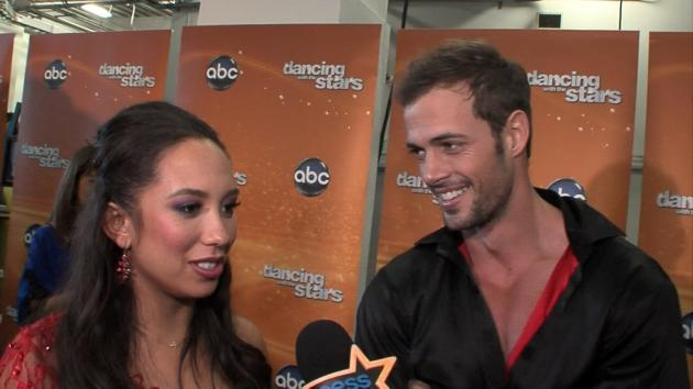 Cheryl Burke and William Levy backstage after Night 1 of the Season 14 'Dancing with the Stars' finals, May 21, 2012 -- Access Hollywood