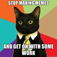 3 Reasons Why Meme Parodies Make For Bad Content image Business Cat 300x300