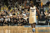 File photo shows Raymond Felton playing for the Denver Nuggets in April 2011. Over the weekend, the New York Knicks acquired Felton to join veteran Jason Kidd -- recently obtained from Dallas -- as two new point guards on the team's roster