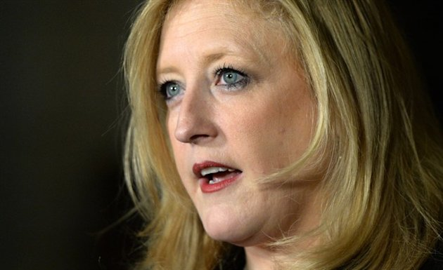 Transportation Minister Lisa Raitt holds a press conference in the Foyer of the House of Commons on Parliament Hilll in Ottawa on Wednesday, October 29, 2014. THE CANADIAN PRESS/Sean Kilpatrick