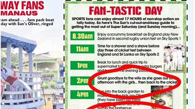 Football - Outrage over 'extremely sexist' newspaper's fan World Cup guide