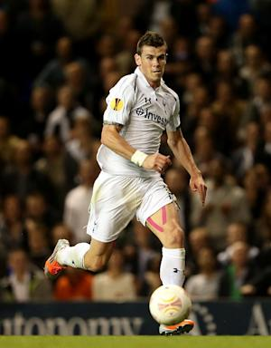 Gareth Bale, pictured, will be missing as Tottenham take on Maribor