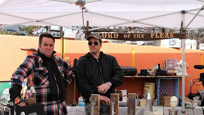 """Jimmy and John at a flea market as seen on """"Dirty Money."""""""