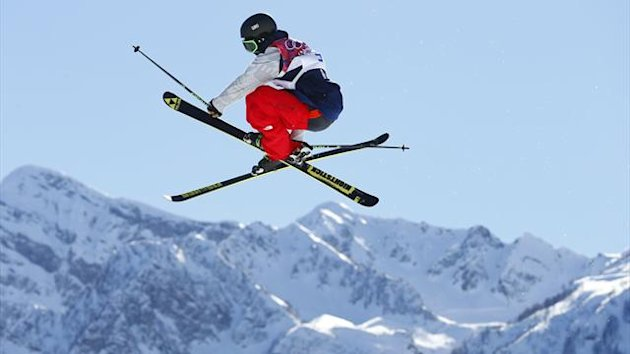 Joss Christensen of the U.S. performs a jump during the men's freestyle skiing slopestyle finals at the 2014 Sochi Winter Olympic Games in Rosa Khutor, February 13, 2014. REUTERS