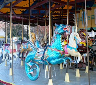 Kids of all ages will love the national carousel