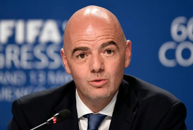 """Italian Gianni Infantino vowed a new era of """"transparency"""" when he took over as FIFA president in February"""