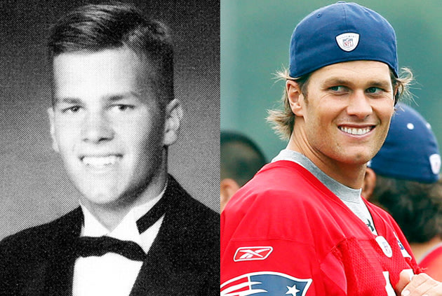 Tom Brady: Then and now (Seth Poppel/Yearbook Library, Jim Rogash/Getty Images)
