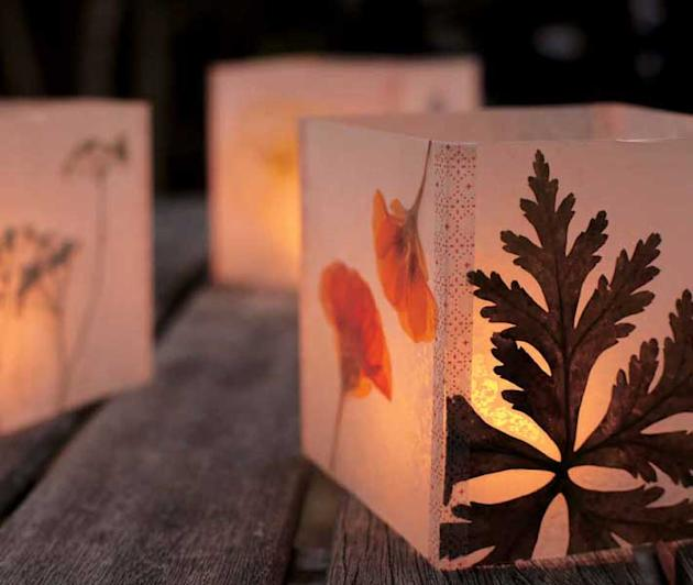 Pressed Flower Luminaria