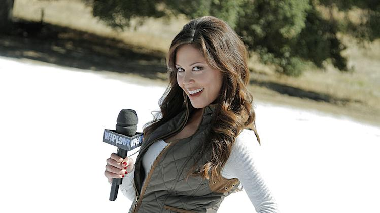 "Co-host Vanessa Lachey from Winter ""Wipeout."""