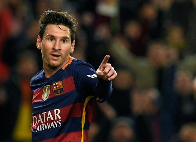 Barcelona's Argentinian forward Lionel Messi, pictured on February 3, 2016, suffered renal colic, a problem commonly caused by kidney stones, in Japan in December 2015