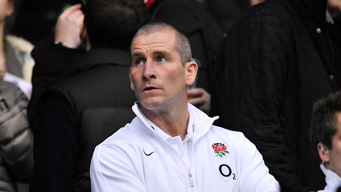 England coach Stuart Lancaster looks on before the Six Nations International rugby union match between England and Ireland at Twickenham Stadium in south-west London, England, on March 17, 2012. AFP PHOTO/GLYN KIRK (Photo credit should read GLYN KIRK/AFP/Getty Images)