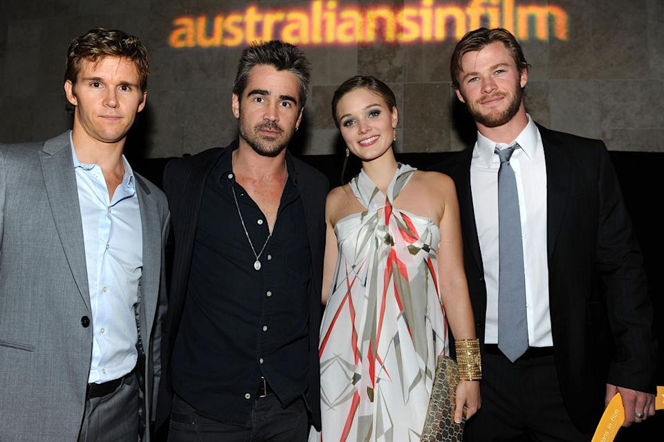 Australians In Film's 2010 Breakthrough Awards Ryan Kwanten Colin Farrell Bella Heathcote Chris Hemsworth