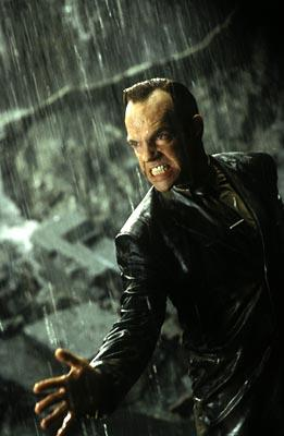 Hugo Weaving as Agent Smith in Warner Brothers' The Matrix: Revolutions