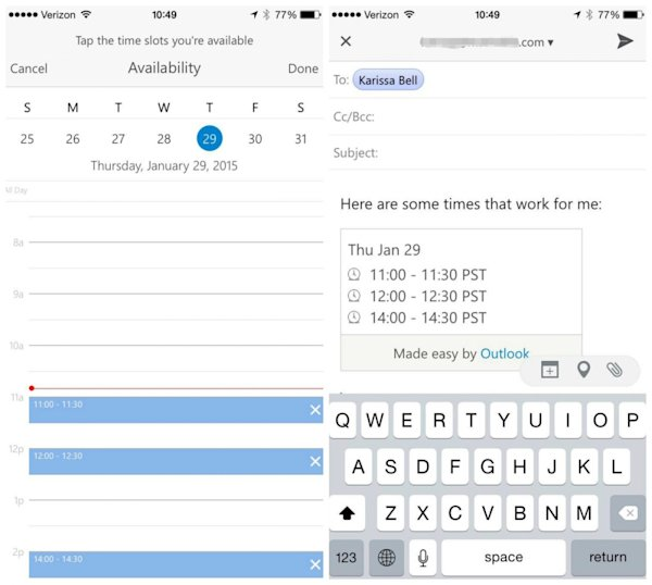 微軟推新版Android、iOS Outlook App,四大功能介紹!