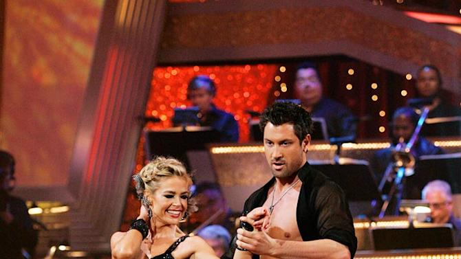 """Denise Richards and Maksim Chmerkovskiy perform the Samba to """"Take a Picture"""" by Filter on """"Dancing with the Stars."""""""
