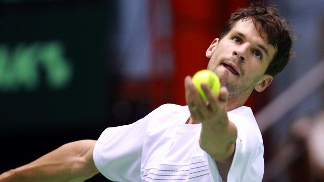 Tennis - Karlovic's booming serve knocks out Dimitrov
