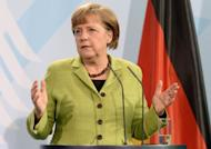 Chancellor Angela Merkel (pictured on May 4) is facing a knife-edge state election on Sunday that could provide vital clues to Germany's political landscape 16 months before a national vote likely to hand her a third term. 2.8 mln people in the small state of Schleswig-Holstein, country's north, will deliver their verdict on Merkel and her eurozone crisis-fighting record