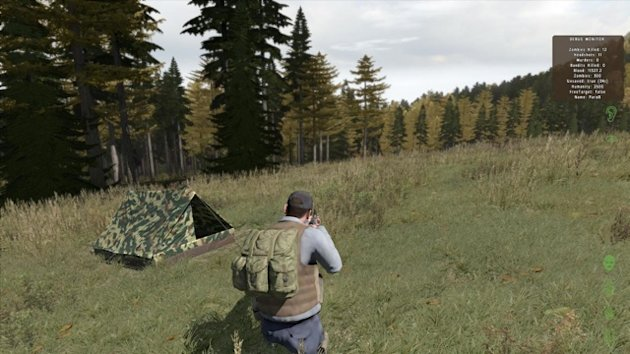 A campsite in the original DayZ mod.