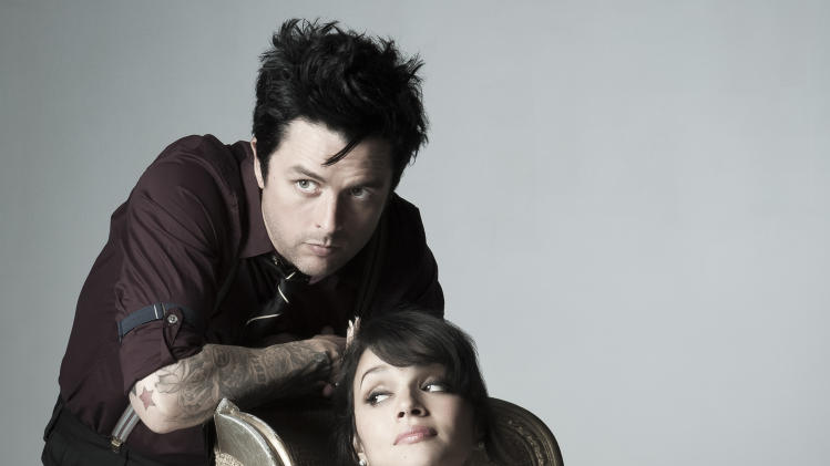 "This image released by Warner Bros. Records shows Billie Joe Armstrong, left, and Norah Jones, who have teamed up for an Everly Brothers tribute, ""Foreverly."" (AP Photo/Warner Bros. Records, Marina Chavez)"