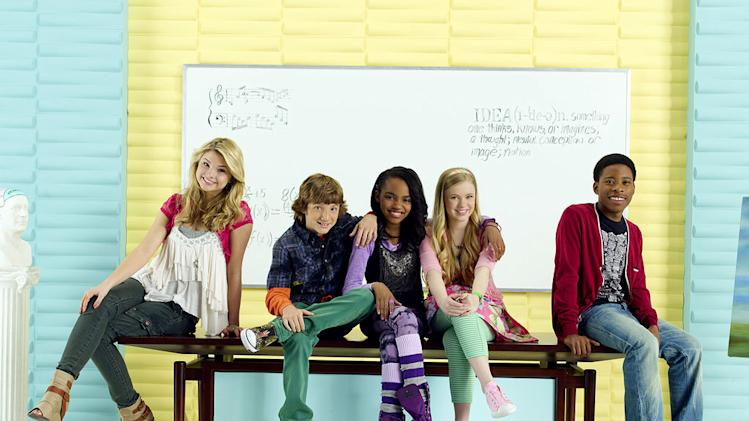 "Stefanie Scott stars as Lexi, Jake Short stars as Fletcher, China Anne McClain stars as Chyna, Sierra McCormick stars as Olive, and Carlon Jeffery stars as Cameron in ""A.N.T. Farm."""