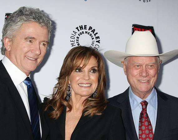 Dallas stars hold tribute to Larry Hagman on set
